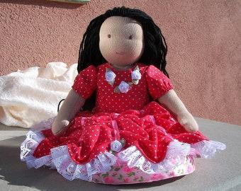 Waldorf Doll 30cm 11,8'', handmade doll, cloth doll baby, soft doll Karmen, Natural doll, Doll Steiner, secure doll, baby doll, toys Steiner