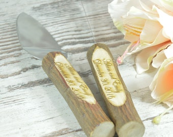 Wedding Cake Server and Knife Rustic Wedding Cake Serving Set Wedding Cake Server Set Wedding Knife Set Cutting Set Personalized Cake Server