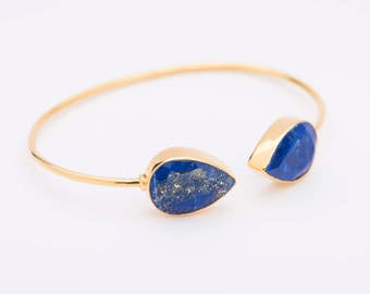 SALE! Blue Lapis Bracelet | Pear Shape | Lapis Lazuli Bracelet | Gift for her | Gemstone bracelet | September birthstone |  Gemstone