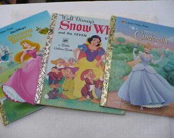 Little Golden Book Baby Shower, Cinderella Book, Snow White Book, Child Cinderella Book, Sleeping Beauty Book