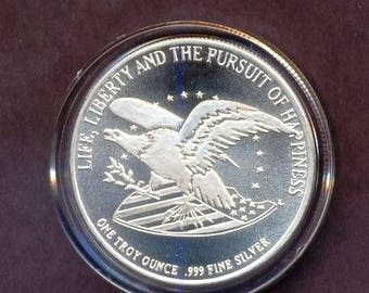 Chrysler Bill of Rights 1 troy ounce silver medallion