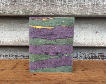 Hand Bound Sketchbook/Journal Covered with Handmade Paper Collage