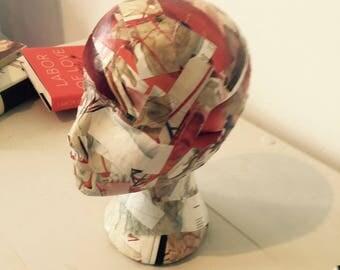 Grey Matter: paper mache mannequin head