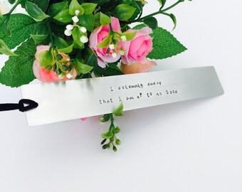 Metal bookmark   Custom Bookmark   Handmade Gift   Book readers Gift   Teachers Gift   Gift for Her   Gift for Him   Handmade bookmark