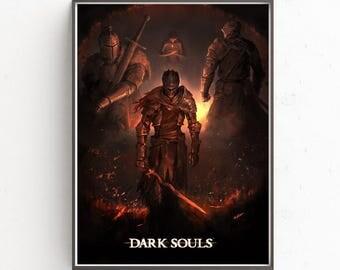 Dark Souls video game decor poster