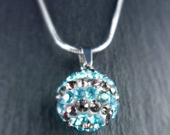 Glitter ball, stainless steel, stainless steel necklace, chain necklace, 555,