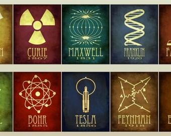 Science Tesla Einstein Art Poster High Quality Material Decoration Gift Fire Movie Warrior Poster