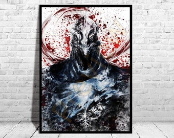 "Knight Artorias Of The Abbys Poster Size up to 33""x47"" Dark Souls Print Poster Wall Art Watercolor Decor Canvas,Buy 2 Get 3rd FREE,AG236"
