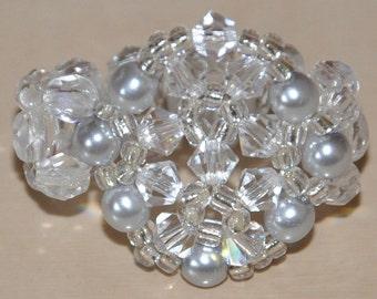 Snowflake ring transparent, black & white