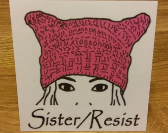Sticker - Pussyhat Sister/Resist