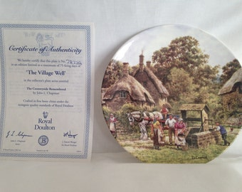 Royal Doulton, The Village Well, Countryside Remembered Series, Ceramic Plate