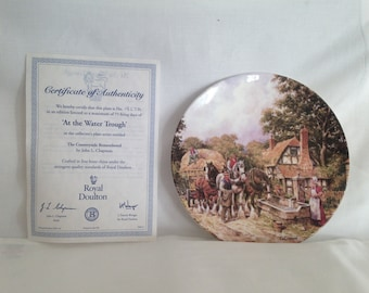 Royal Doulton, At the Water Trough,Countryside Remembered Series. Ceramic Plate