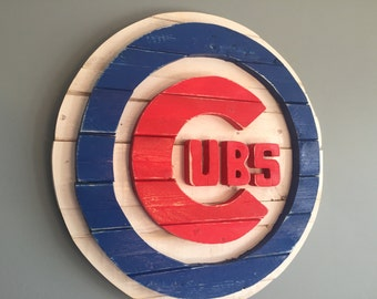 Custom made, Chicago Cubs, wood sign
