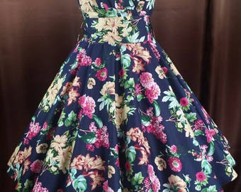 Rockabilly 50s prom flowers dance bridesmaids dress