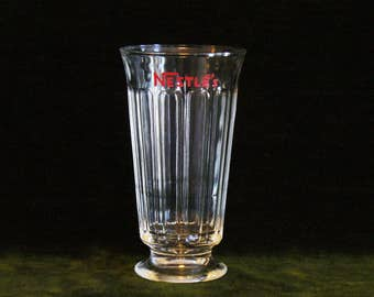 Vintage Nestle's Footed Soda Fountain Glass