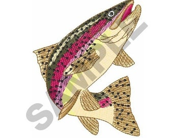 Rainbow Trout Fish - Machine Embroidery Design