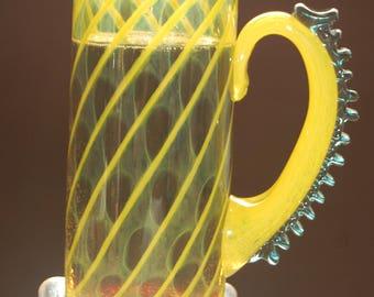 Handblown Glass Beer Mug