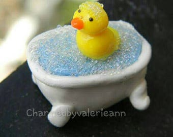 Rubber Duckie in the Tub