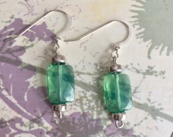 Sterling silver earrings with opalite stone