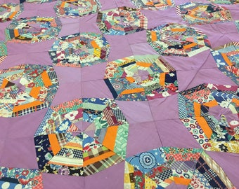 Queen Lavender Hand tied Quilt