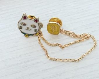 Lucky Cat Pin Badge