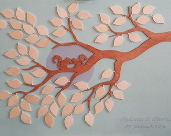 Wedding tree marriage tree guestbook squirrel