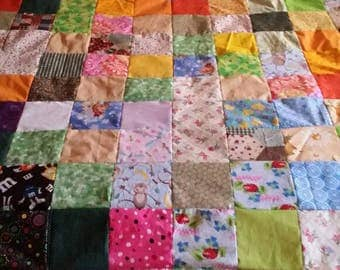Quilt Top of many colors! Scrap quilt top.