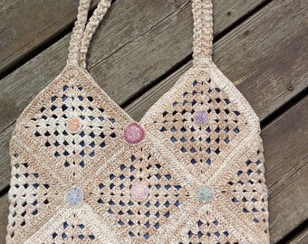 Bag crochet. Cotton.