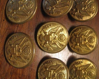 8 antique Buttons Waterbury button 28 m collection