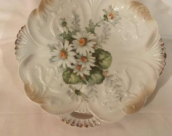 Display floral porcelain serving plate made in Germany