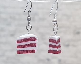 Red Velvet Cake Earrings