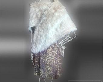 Fabienne Ecofur Shawl Scarf XL