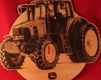 TRACTOR CLOCK,engraved, Personalized clock, wooden clock, special gift, wall clock, unique clocks, Case Tractors, original gift