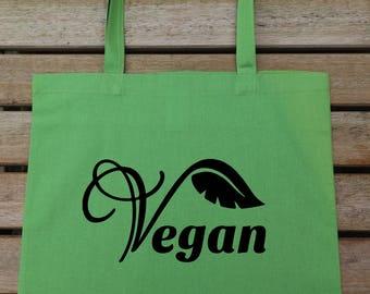 Vegan Tote Bag, Chlorine Free Tote, Vegan Gift,  Birthday Gift, Cotton Tote Bag, Gift For Friend, Shopping Bag, Cool Gift, Cool Tote, 133