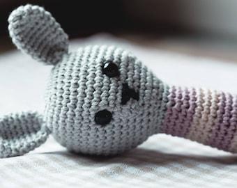 Rattle, rattle, Bunny, rabbit, Häkeltier, Bunny rattle