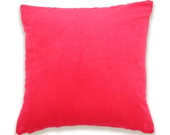 Happiness Red Cotton Velvet Cushion