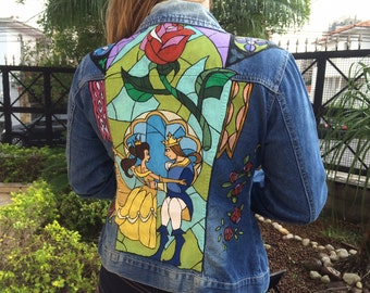The Beauty and the Beast Jean jacket