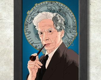 Bertrand Russell Poster Print A3+ 13 x 19 in - 33 x 48 cm  Buy 2 get 1 FREE