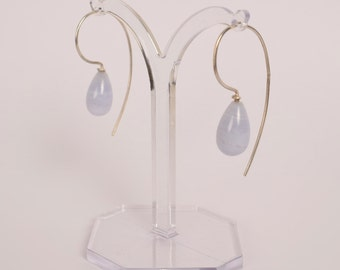Silver Earrings with Silver earrings Chalcedony gemstone chalcedony Chalzedon halbedelstein Silver Pendant