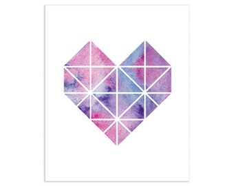 Geometric Heart Art Print