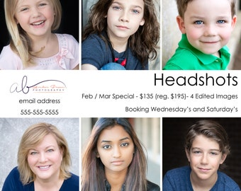 CLEAN collection - Headshot / Portrait PSD Marketing Template