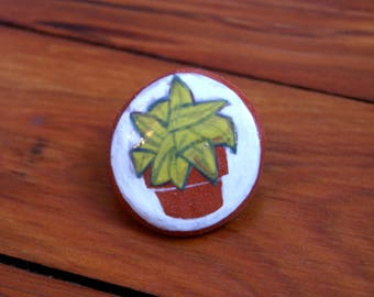 ceramic potted plant pin