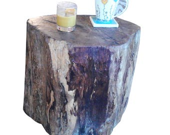 Log table, tree stump, side table, end table, driftwood side table, driftwood, stool