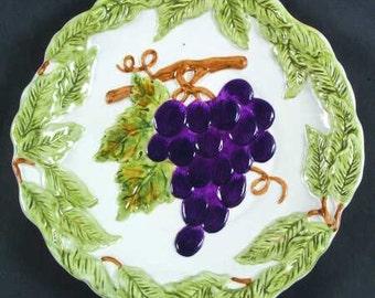 Charter Club Summer Grove - Sculpted Plate - Grape Cluster