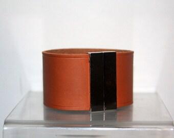 bracelet in real vegetable leather