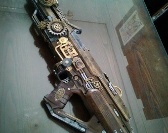 Steampunk wood rifle fucile