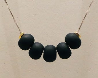 Cinco Necklace: Black