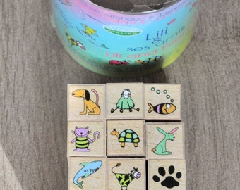 lot of 15 animals and Lily pads