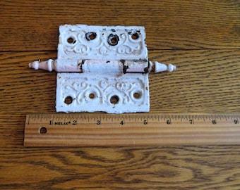 shabby chic door hardware/pink door hardware/finial ends/Victorian door hardware,Victorian bracket,chippy paint hardware,