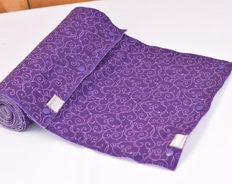 Unpaper Towels- Reusable Cloth Towels- Washable Towels- Eco-Friendly Unpaper Towels- Purple Swirl- READY TO SHIP